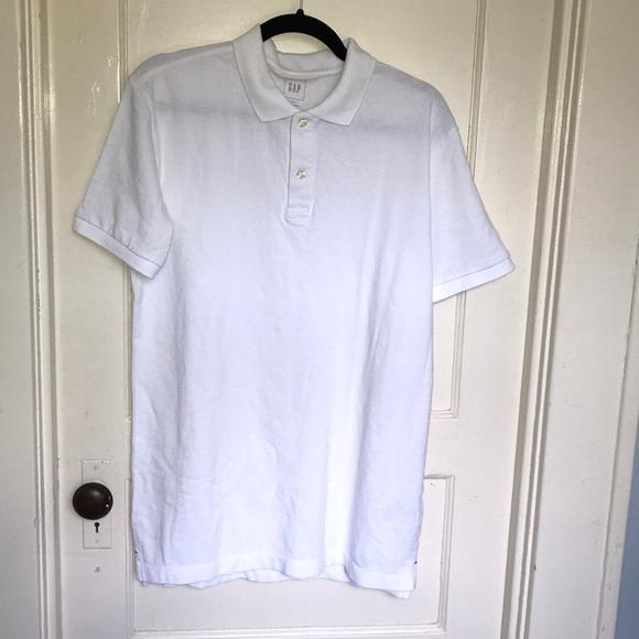 NWT GAP men's white polo shirt, size Medium Tall